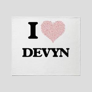 I Love Devyn (Heart Made from Love w Throw Blanket