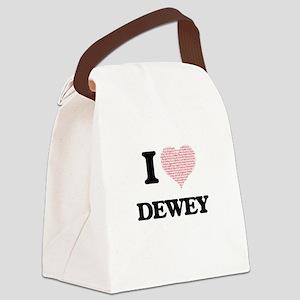 I Love Dewey (Heart Made from Lov Canvas Lunch Bag