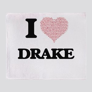 I Love Drake (Heart Made from Love w Throw Blanket