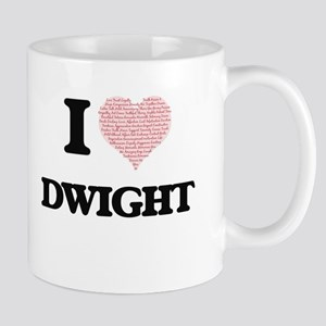 I Love Dwight (Heart Made from Love words) Mugs