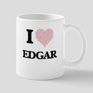I Love Edgar (Heart Made from Love words) Mugs