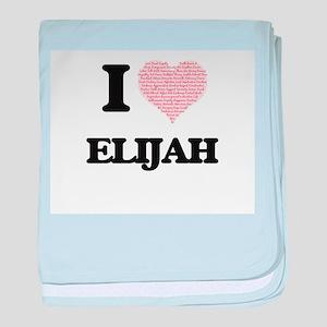 I Love Elijah (Heart Made from Love w baby blanket