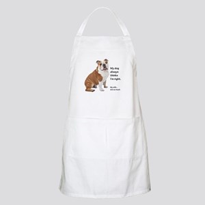 Bulldog v Wife Apron