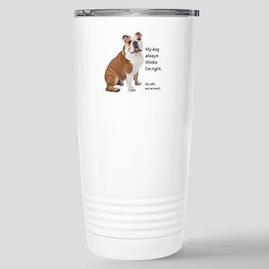 Bulldog v Wife Travel Mug