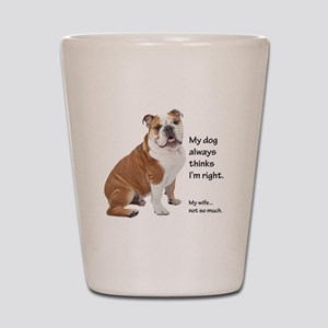 Bulldog v Wife Shot Glass