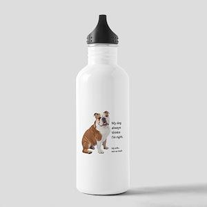 Bulldog v Wife Water Bottle