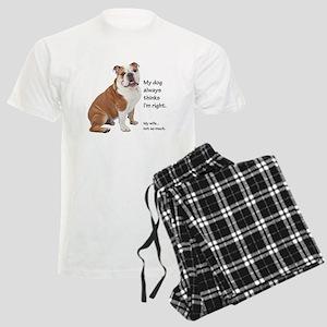 Bulldog v Wife Pajamas