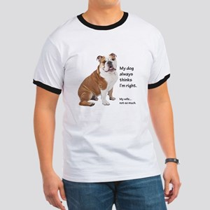 Bulldog v Wife T-Shirt