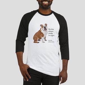 Bulldog v Wife Baseball Jersey