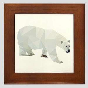Polar Bear Framed Tile