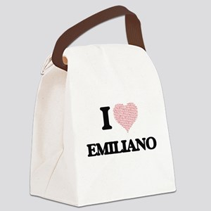 I Love Emiliano (Heart Made from Canvas Lunch Bag