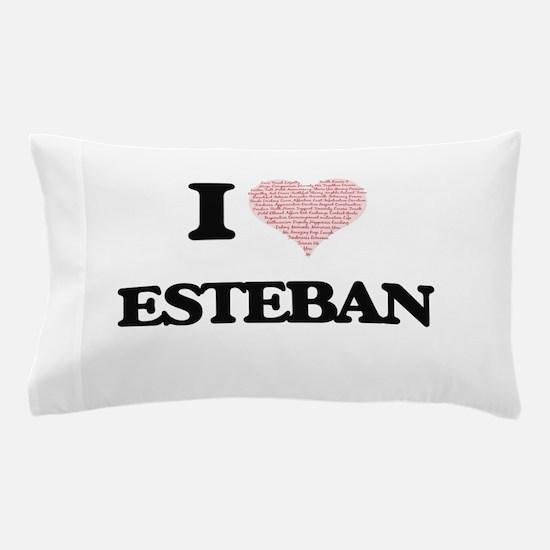 I Love Esteban (Heart Made from Love w Pillow Case