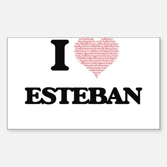 I Love Esteban (Heart Made from Love words Decal