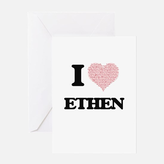 I Love Ethen (Heart Made from Love Greeting Cards