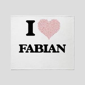 I Love Fabian (Heart Made from Love Throw Blanket