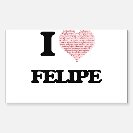 I Love Felipe (Heart Made from Love words) Decal