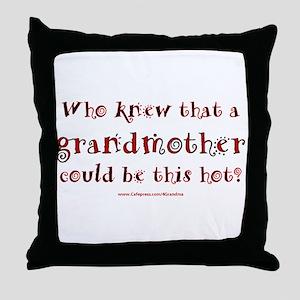 Hot Grandmother Throw Pillow