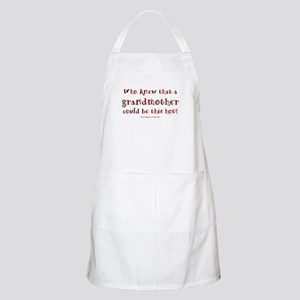 Hot Grandmother BBQ Apron
