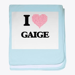 I Love Gaige (Heart Made from Love wo baby blanket