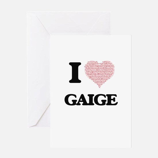 I Love Gaige (Heart Made from Love Greeting Cards