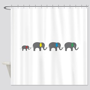 Elephant chain Shower Curtain