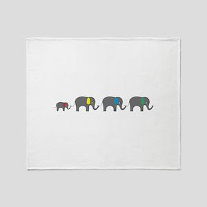 Elephant chain Throw Blanket