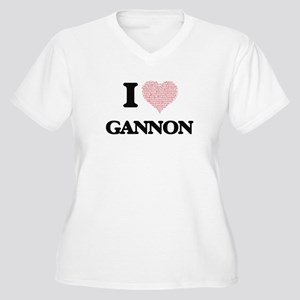 I Love Gannon (Heart Made from L Plus Size T-Shirt