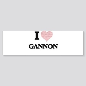 I Love Gannon (Heart Made from Love Bumper Sticker
