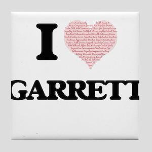 I Love Garrett (Heart Made from Love Tile Coaster