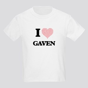 I Love Gaven (Heart Made from Love words) T-Shirt