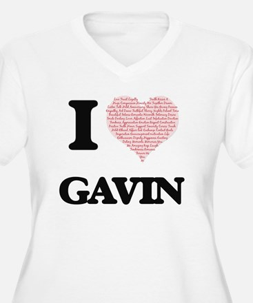 I Love Gavin (Heart Made from Lo Plus Size T-Shirt