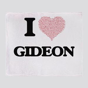 I Love Gideon (Heart Made from Love Throw Blanket