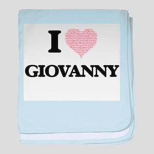 I Love Giovanny (Heart Made from Love baby blanket