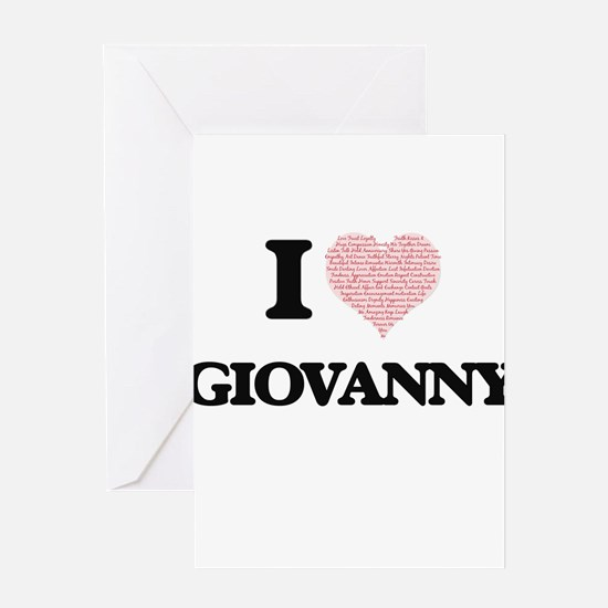 I Love Giovanny (Heart Made from Lo Greeting Cards