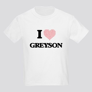 I Love Greyson (Heart Made from Love words T-Shirt