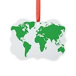 World Map Ornament