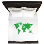 World Map King Duvet