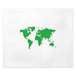 World Map King Duvet