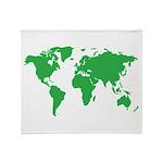 World Map Throw Blanket
