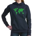 World Map Women's Hooded Sweatshirt