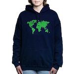 World Map Women's Hooded Sweatshirt