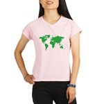 World Map Performance Dry T-Shirt