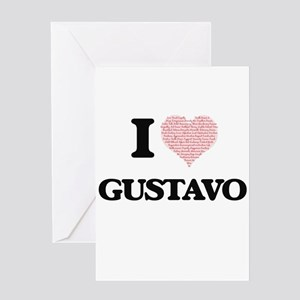 I Love Gustavo (Heart Made from Lov Greeting Cards