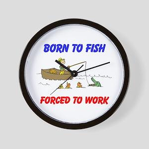 BORN TO FISH Wall Clock