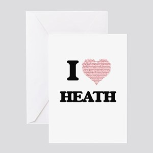 I Love Heath (Heart Made from Love Greeting Cards