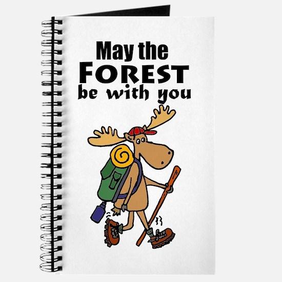Cute Moose Hiking Journal