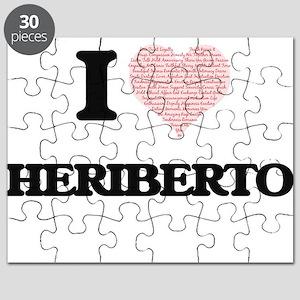 I Love Heriberto (Heart Made from Love word Puzzle