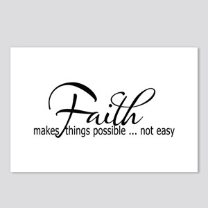 Faith makes all things po Postcards (Package of 8)