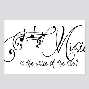 Music is the voice of the Postcards (Package of 8)