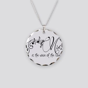 Music is the voice of the so Necklace Circle Charm